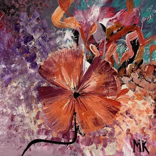 Mona Kanaan - The pink flower